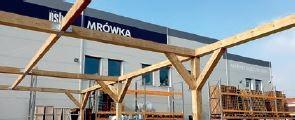 Budowa wiaty w dziale ogród Mrówki w Nakle. Luty 2019 r.