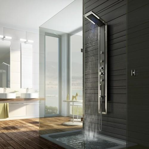 Panel prysznicowy montuje się w zwykłych kabinach natryskowych