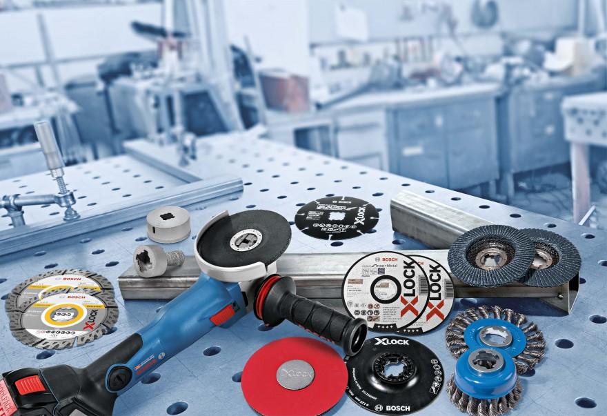 Zdj. 1. Bosch Professional oferuje bogaty asortyment narzędzi i osprzętu X-LOCK odpowiednich do wszystkich zastosowań i dostosowanych do potrzeb wszystkich użytkowników. Źródło: Archiwum BOSCH.