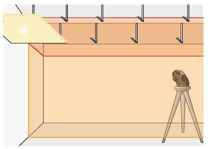 Do wykonania stelaża sufitu podwieszanego potrzebna jest funkcja emitowania dwóch płaszczyzn.