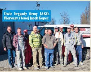 Dwie brygady firmy JAKO. Pierwszy z lewej Jacek Kopeć.
