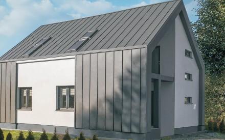 Blacha płaska na rąbek stojący nadaje dachom oryginalny wygląd