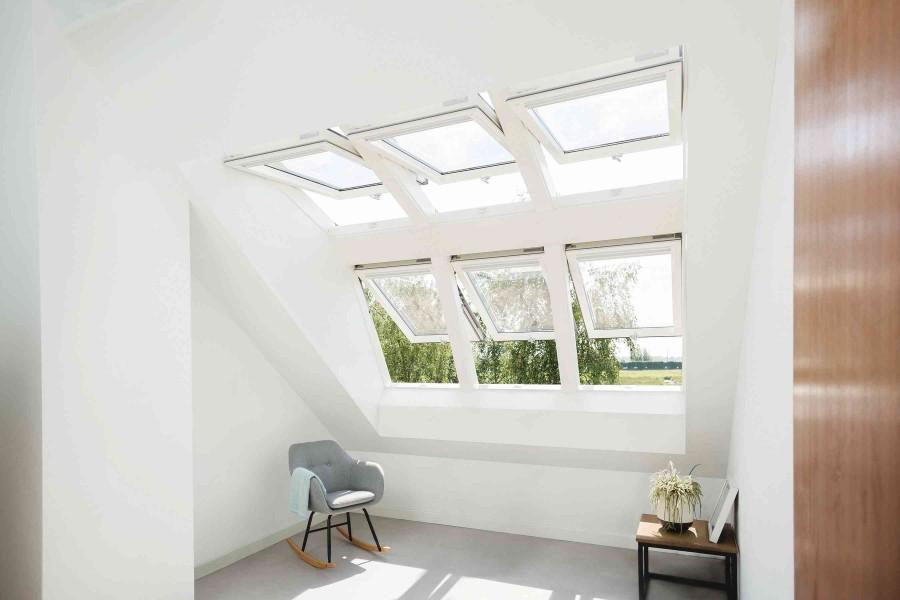 Dzięki oknom na poddaszu możemy uzyskać zdrowy mikroklimat (fot. Fakro)