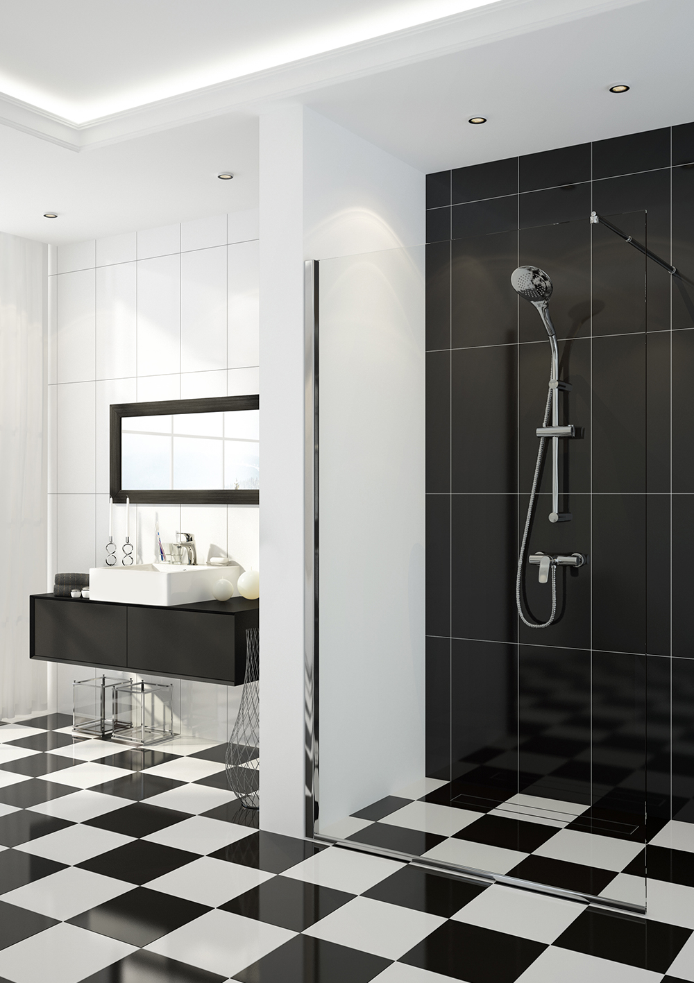 Kabina prysznicowa walk-in, seria: Abelia
