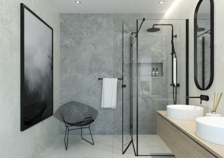 Uchylne drzwi do kabiny prysznicowej