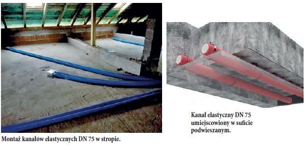 VENTS GROUP - Montaż kanałów elastycznych DN 75 w stropie