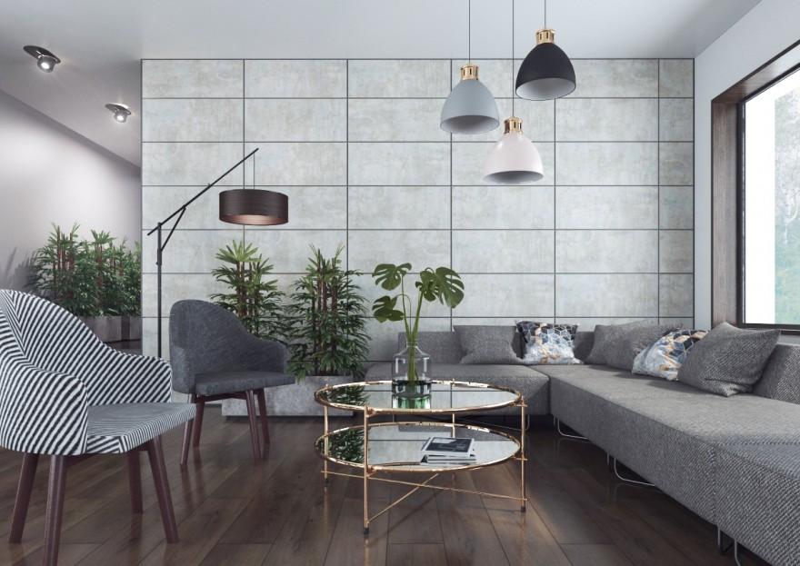 SWISS KRONO Kamień i beton na ścianie - aranżacje