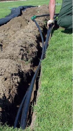 Zakopywanie rury