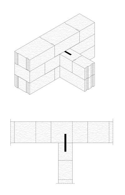 """Rys.4. Połączenie ścian metodą """"na dotyk"""""""