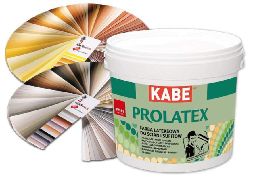 FARBY KABE Ekologiczna farba lateksowa do ścian i sufitów PROLATEX