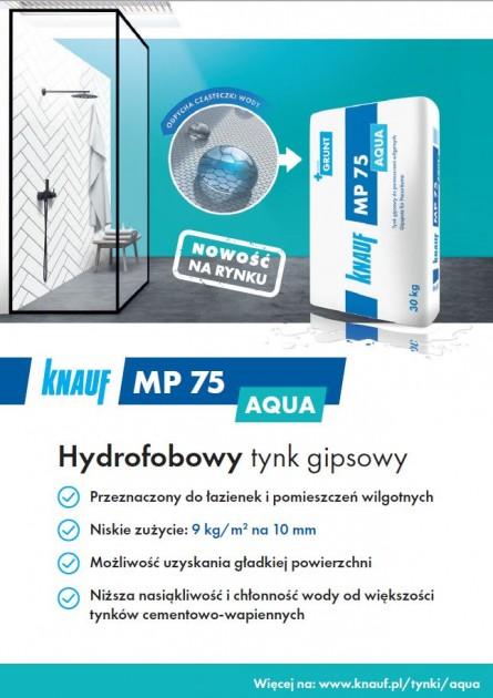 KNAUF - PM75 hudrofobowy tynk gipsowy