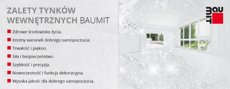 Zalety tynków wewnętrznych Baumit
