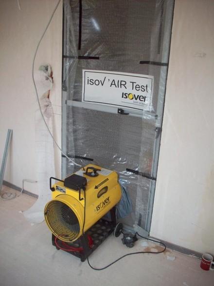 Badanie szczelności powietrznej budynku