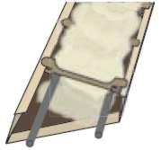 Poziomy profil ramy wypełnia się zaprawą montażową aż po jego górną krawędź; w profil pionowy nakłada się zaprawę tylko na wysokość jednego rzędu pustaków.