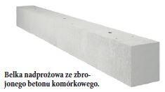 Belka nadprożowa ze zbrojonego betonu komórkowego