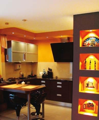 W kuchni warto zastosować farby odporne na zmywanie.
