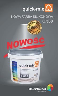 Silikonowa farba elewacyjna Q 360 firmy Quick-mix
