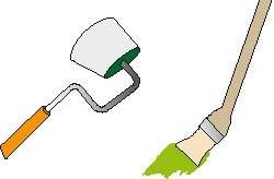 W miejscach trudno dostępnych można użyć wałka kątowego lub wąskiego pędzla na zakrzywionej rączce
