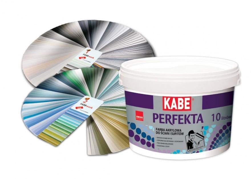 FARBY KABE Dyspersyjna, akrylowa farba do ścian i sufitów PERFEKTA