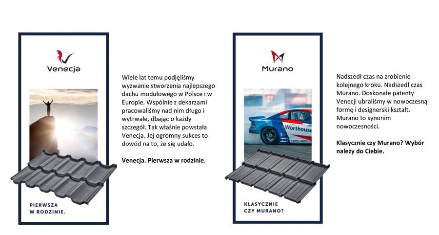 Dachy modułowe Budmat: modele Venecja i Murano