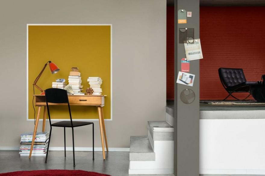 Zdj. 3. Wykończenie ściany mocną barwą może podkreślić odrębny charakter stref wypoczynkowej, sypialnianej, biurowej, a także jadalni.