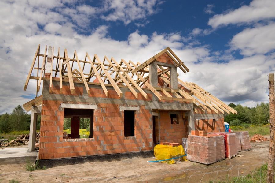 Drewniana więźba dachowa