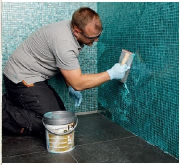 Zastosowanie fugi PCI Durapox® Premium Multicolor do spoinowania mozaiki