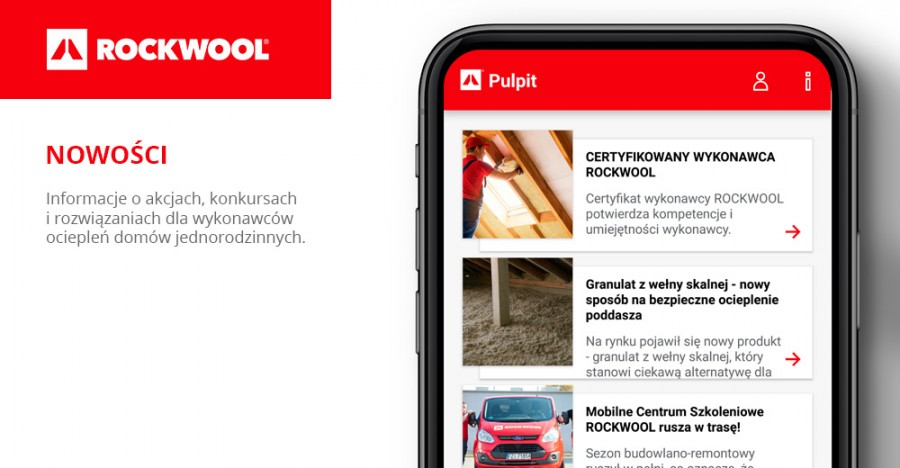 Nowości w aplikacji mobilnej ROCKWOOL