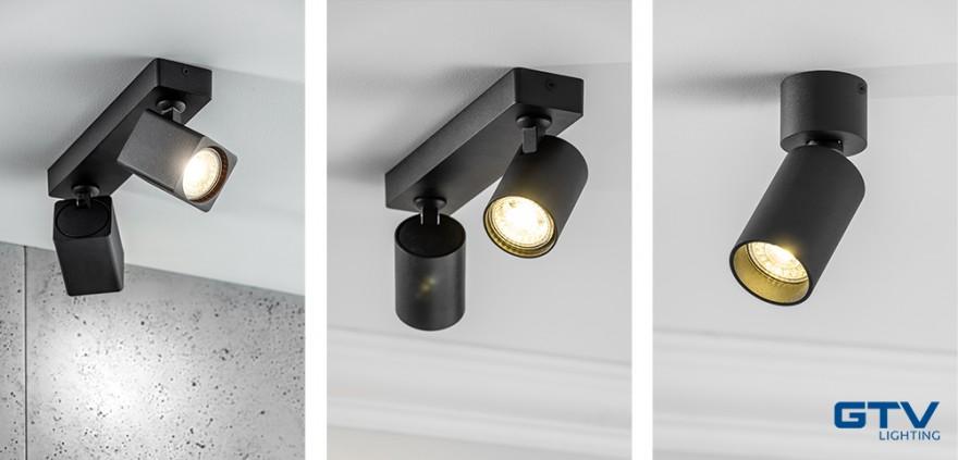 Reflektory firmy GTV (od lewej RENO, SANTO, FARGO)