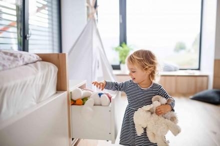 Pokój przedszkolaka powinien być podzielony na strefy na zabawę, wypoczynek i naukę