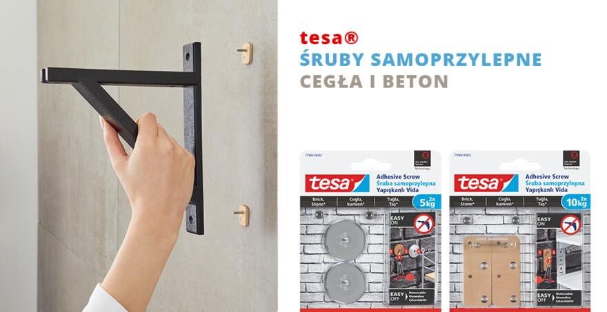 tesa® Śruby samoprzylepne, cegła i beton