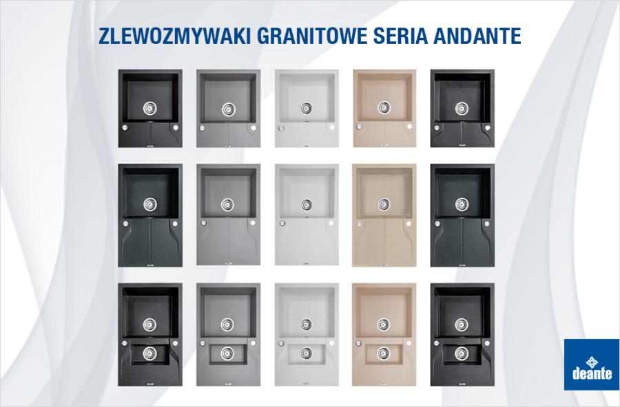 Zlewozmywaki granitowe - seria Andante