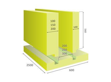 Płyta z polistyrenu ekstrudowanego XPS US 150x600x2500 FINNFOAM