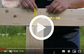 Jak połączyć belkę drewnianą? Wkręty z pełnym gwintem - DOMAX