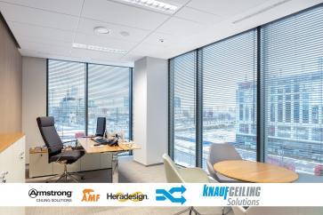 Sufity Armstrong, AMF oraz Heradesign teraz razem.  Szukajcie ich pod marką Knauf Ceiling Solutions!