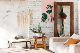 Malowanie ścian z cegły we wnętrzu