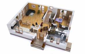 Projekt domu – program funkcjonalny parteru w domu dwukondygnacyjnym