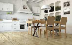 Drewniane podłogi i ściany w stylu rustykalnym