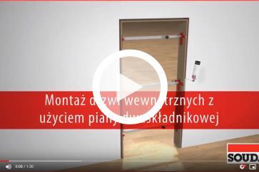 Montaż drzwi z użyciem pianki montażowej dwuskładnikowej - SOUDAL
