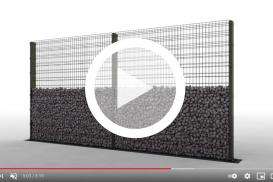 Montaż murku gabionowego Zenturo Super od BETAFENCE