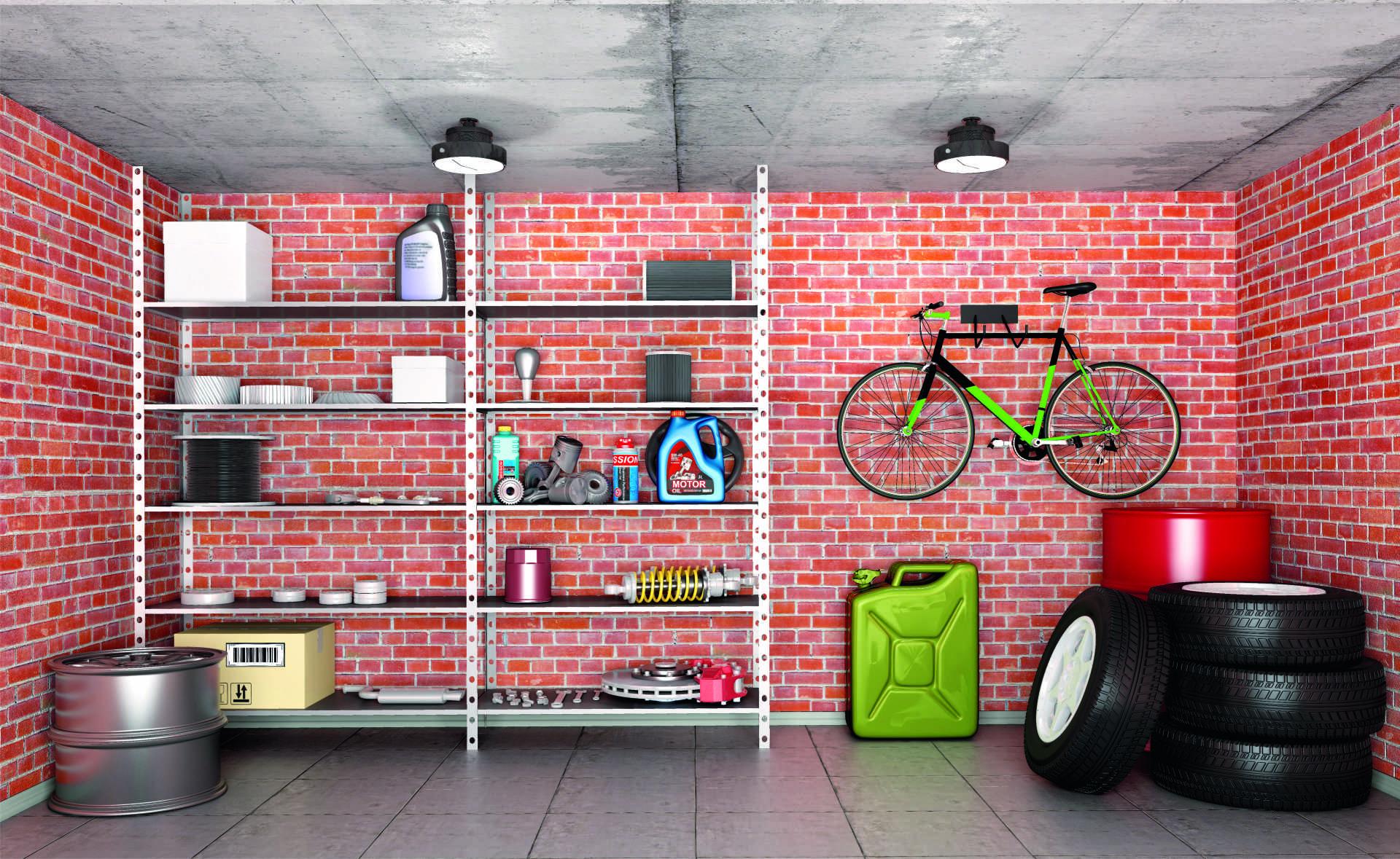 Garaż Dobrze Oświetlony