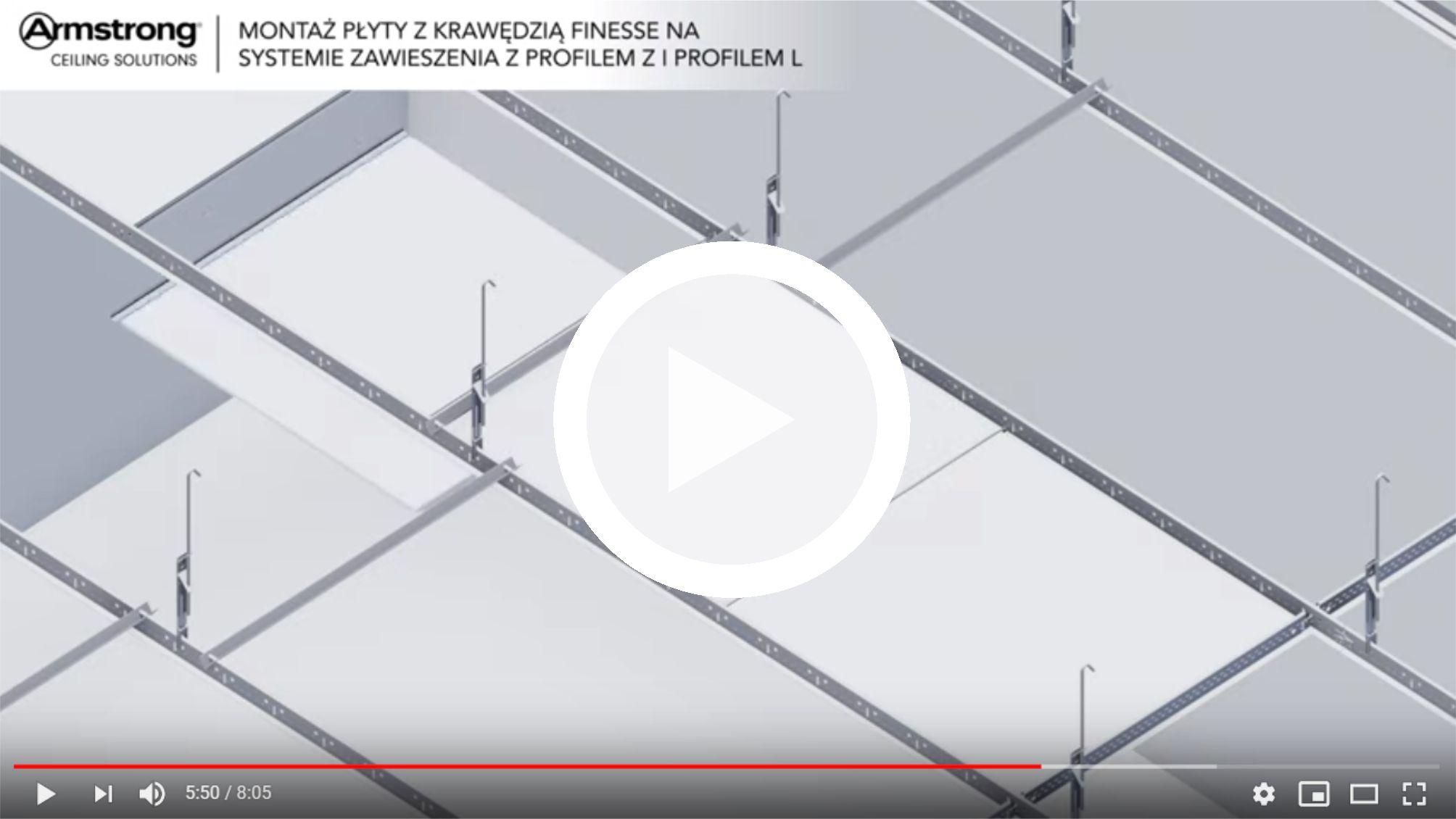 montaz-plyty-armstrong-z-krawedzia-finesse