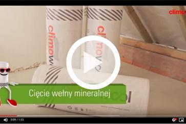 CLIMOWOOL - cięcie wełny mineralnej
