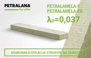 Wełna skalna PETRALANA w izolacji termicznej, akustycznej i przeciwogniowej stropów