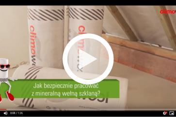 CLIMOWOOL - jak bezpiecznie pracować z mineralną wełną szklaną