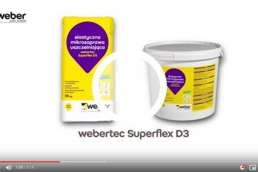Jak wykonać hydroizolację łazienki zaprawą mineralną webertec Superflex D3 - WEBER