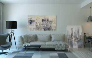 Co na ścianę w salonie - aranżacje, inspiracje, trendy