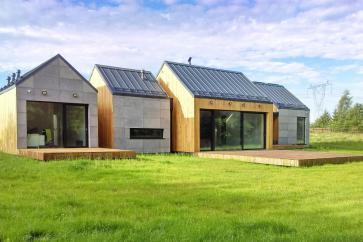 Beton architektoniczny na elewacji