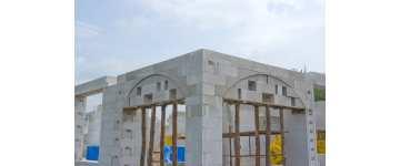 Ważny detal: nadproże w ścianie łukowej z betonu komórkowego