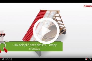 CLIMOWOOL - jak ocieplić dach skośny etapy montażu wełny